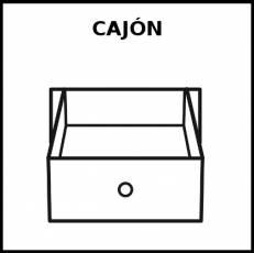 CAJÓN - Pictograma (blanco y negro)