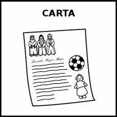 CARTA (REYES MAGOS) - Pictograma (blanco y negro)