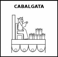 CABALGATA - Pictograma (blanco y negro)