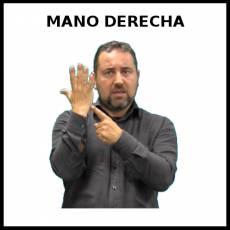 MANO DERECHA - Signo