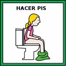 HACER PIS (NIÑA) - Pictograma (color)
