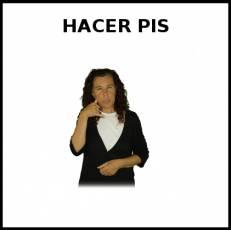 HACER PIS (NIÑA) - Signo