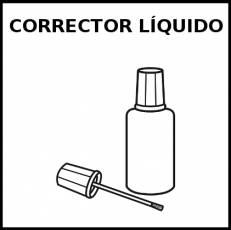 CORRECTOR LÍQUIDO - Pictograma (blanco y negro)