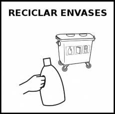 RECICLAR ENVASES - Pictograma (blanco y negro)