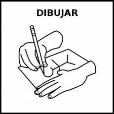 DIBUJAR - Pictograma (blanco y negro)