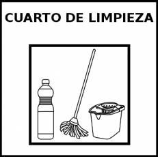 CUARTO DE LIMPIEZA - Pictograma (blanco y negro)