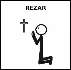 REZAR - Pictograma (blanco y negro)