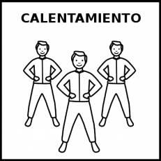 CALENTAMIENTO (DEPORTE) - Pictograma (blanco y negro)
