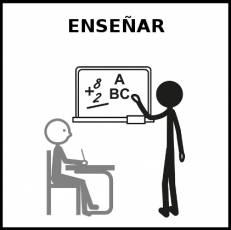 ENSEÑAR (EDUCAR) - Pictograma (blanco y negro)