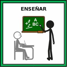 ENSEÑAR (EDUCAR) - Pictograma (color)