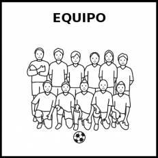 EQUIPO - Pictograma (blanco y negro)