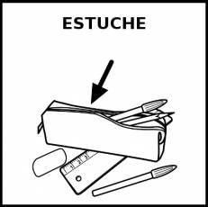 ESTUCHE (LAPICES) - Pictograma (blanco y negro)