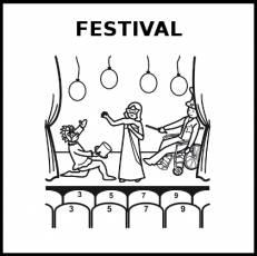 FESTIVAL - Pictograma (blanco y negro)