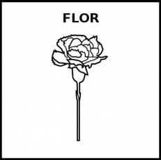 FLOR - Pictograma (blanco y negro)