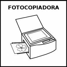 FOTOCOPIADORA - Pictograma (blanco y negro)