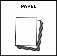 PAPEL (FOLIO) - Pictograma (blanco y negro)
