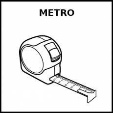 METRO (UNIDAD DE MEDIDA) - Pictograma (blanco y negro)