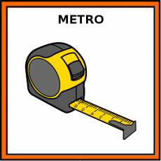 METRO (UNIDAD DE MEDIDA) - Pictograma (color)