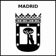 MADRID - Pictograma (blanco y negro)