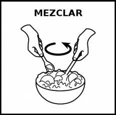 MEZCLAR - Pictograma (blanco y negro)