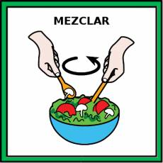 MEZCLAR - Pictograma (color)