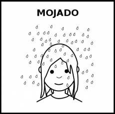 MOJADO - Pictograma (blanco y negro)