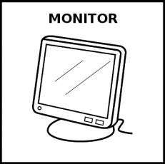 MONITOR (ORDENADOR) - Pictograma (blanco y negro)