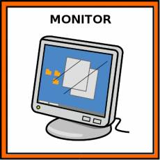 MONITOR (ORDENADOR) - Pictograma (color)