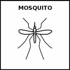 MOSQUITO - Pictograma (blanco y negro)