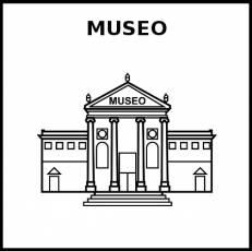 MUSEO - Pictograma (blanco y negro)