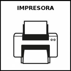 IMPRESORA - Pictograma (blanco y negro)