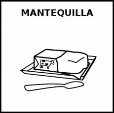 MANTEQUILLA - Pictograma (blanco y negro)