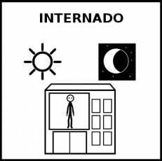 INTERNADO - Pictograma (blanco y negro)