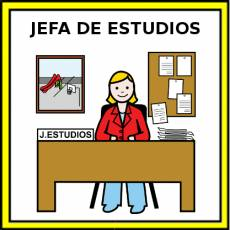 JEFA DE ESTUDIOS - Pictograma (color)