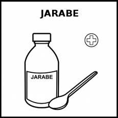 JARABE - Pictograma (blanco y negro)