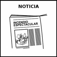 NOTICIA - Pictograma (blanco y negro)