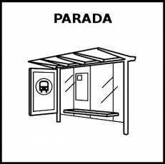 PARADA - Pictograma (blanco y negro)