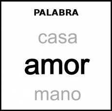 PALABRA - Pictograma (blanco y negro)