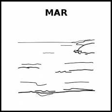 MAR - Pictograma (blanco y negro)