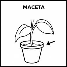 MACETA - Pictograma (blanco y negro)