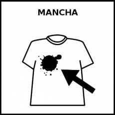 MANCHA - Pictograma (blanco y negro)