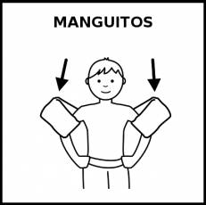 MANGUITOS - Pictograma (blanco y negro)