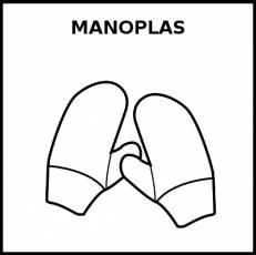 MANOPLAS - Pictograma (blanco y negro)