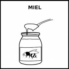 MIEL - Pictograma (blanco y negro)