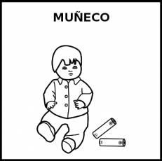 MUÑECO - Pictograma (blanco y negro)