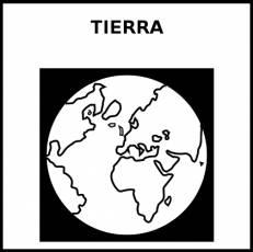 TIERRA (PLANETA) - Pictograma (blanco y negro)
