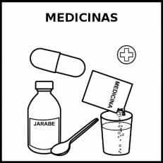MEDICINAS - Pictograma (blanco y negro)