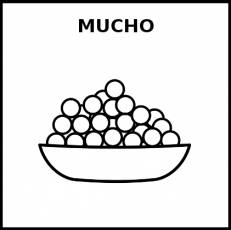 MUCHO - Pictograma (blanco y negro)