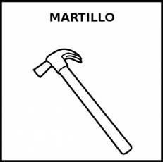MARTILLO - Pictograma (blanco y negro)