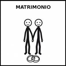 MATRIMONIO - Pictograma (blanco y negro)